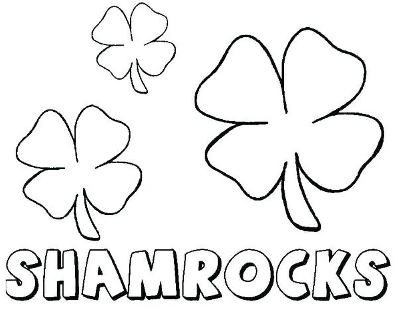 Holy Trinity Shamrock Coloring Page