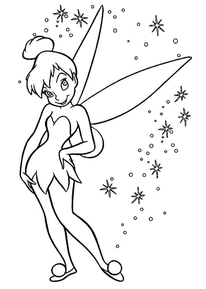 I Love Tinkerbell Coloring Pages