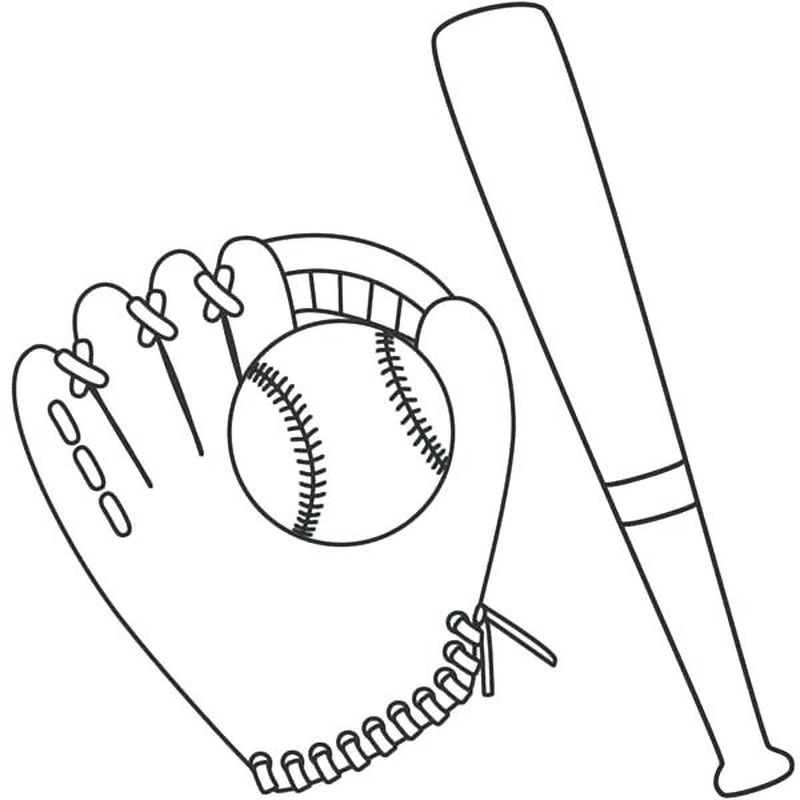 Kids Baseball Coloring Pages