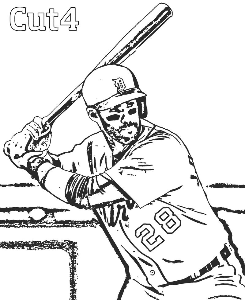 Kids Coloring Pages Baseball