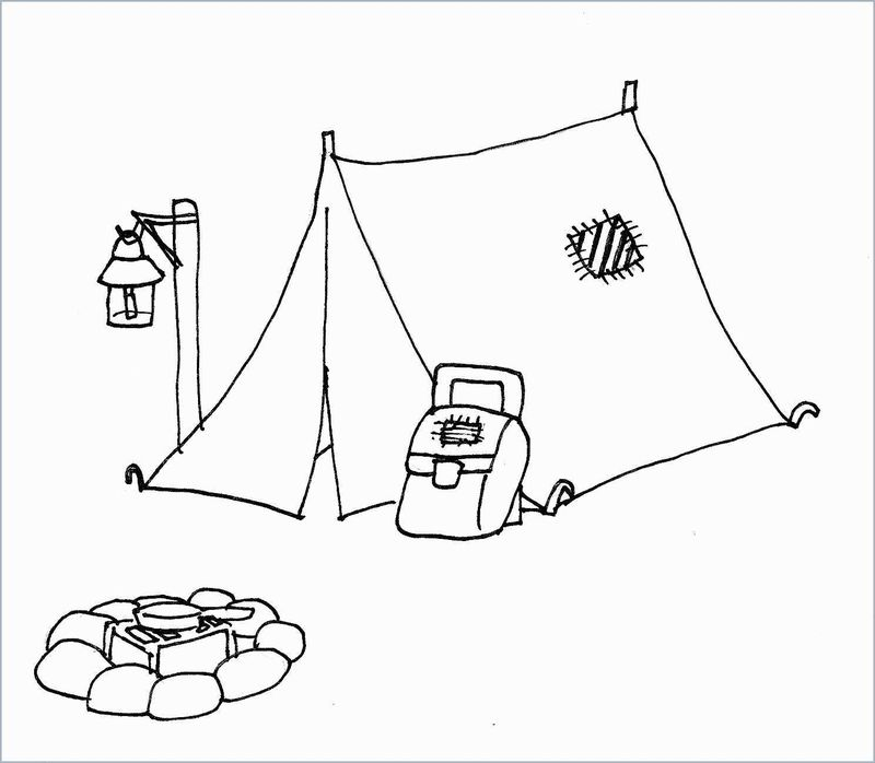 Kids Coloring Pages Camping Free