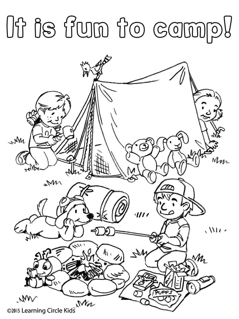 Lady In Hammock Camping Free Coloring Pages Free