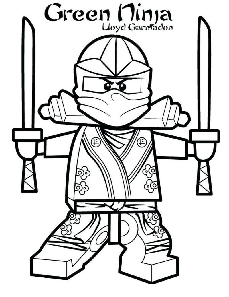 Lego Ninjago Coloring Pages Cole Dx