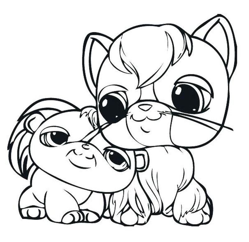 Littlest Pet Shop Animals Coloring Pages free