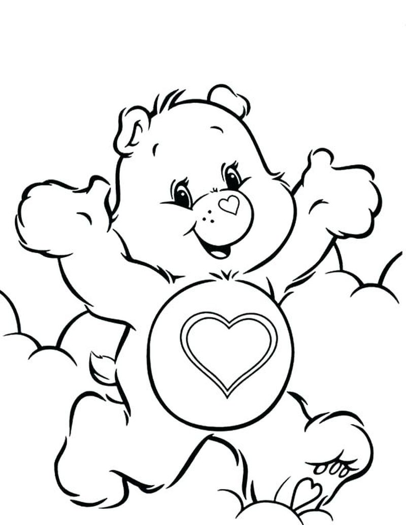 Lucky Care Bear Coloring Pages pdf