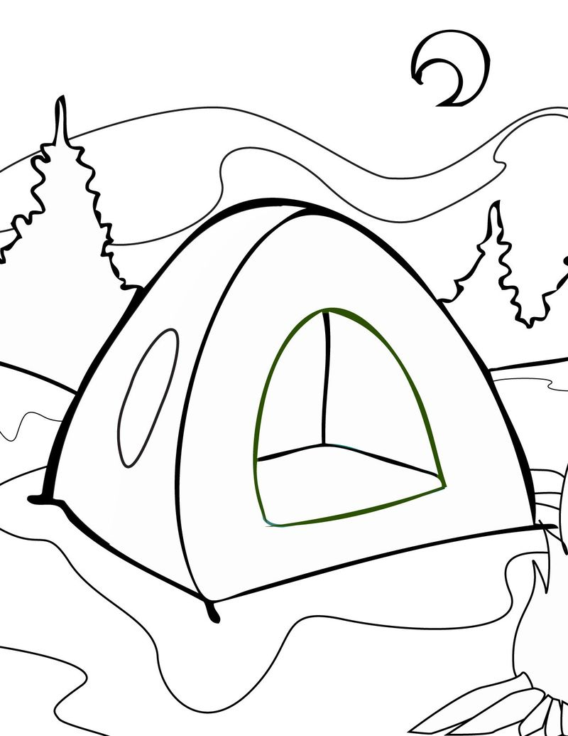 Marmellow Camping Coloring Pages Free