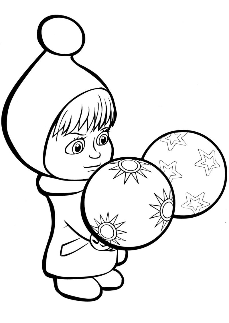 Masha An The Bear Coloring Pages Printable