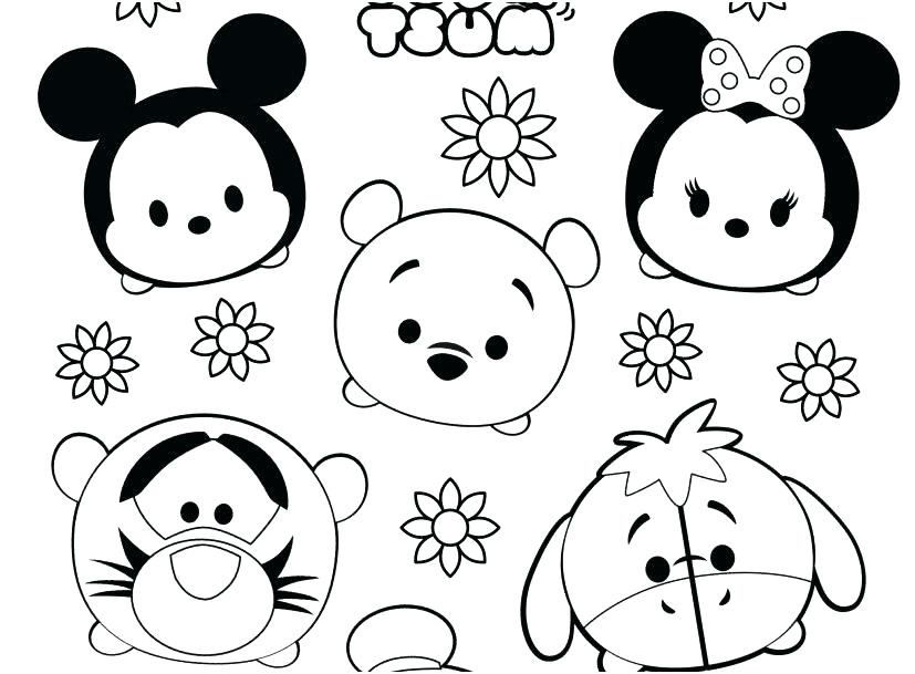 Mickey Tsum Tsum Coloring Pages