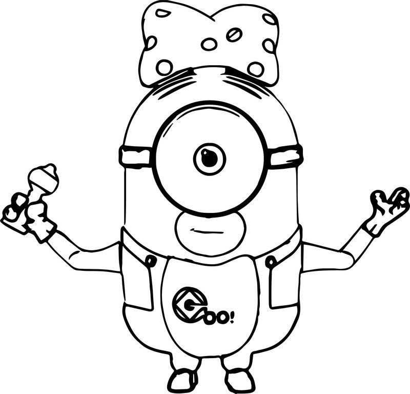 Minions Coloring Pages Love Bee Bo