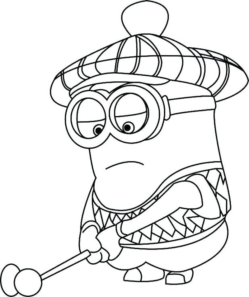 Minions Coloring Pages Of Dave