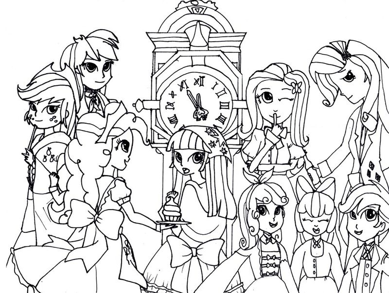 My Little Pony Coloring Pages Dash Equestria Girls Pdf