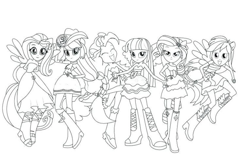 My Little Pony Coloring Pages Equestria Girls Rainbow Rocks Pdf