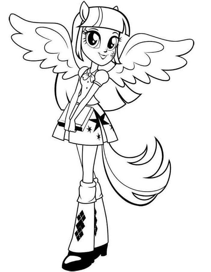 My Little Pony Equestria Girls Coloring Pages Free