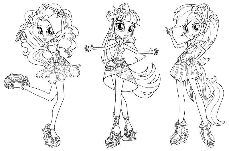 My Little Pony Equestria Girls Coloring Pages Sunset ShimmerFree