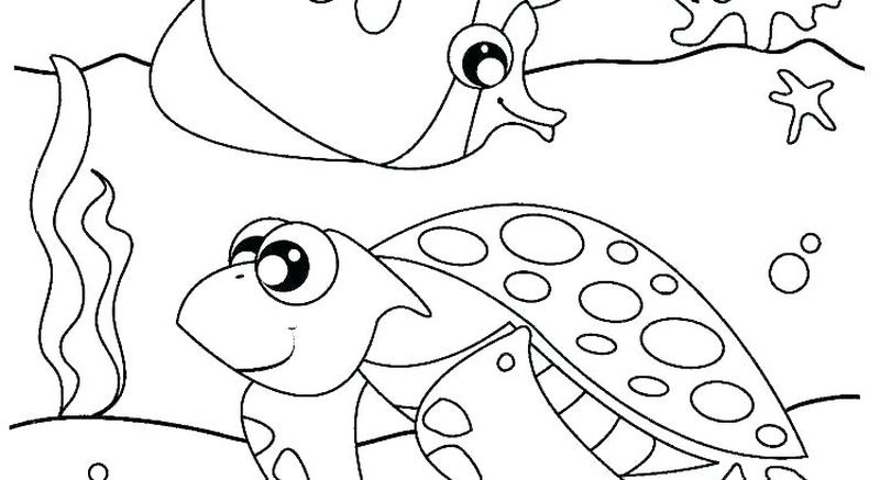 Ocean Animals Coloring Pages Printable