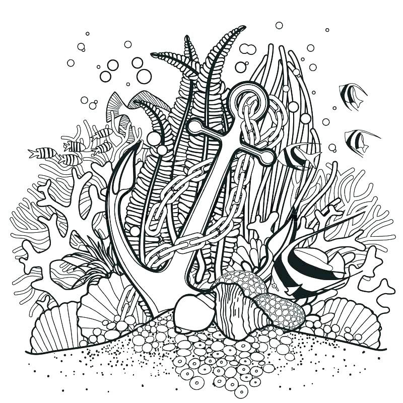 Ocean Fish Printable Coloring Pages