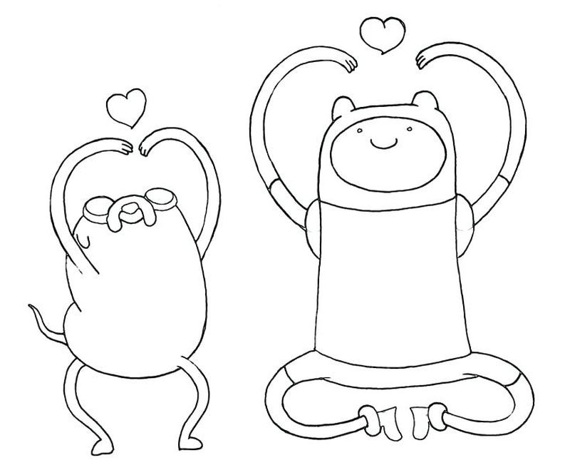 Pdf Adventure Time Colouring Pages Free