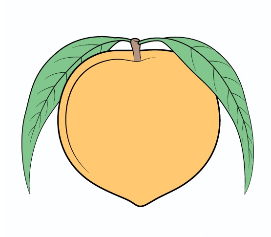 Peach Coloring page