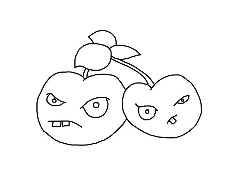 Plants Vs Zombies Chomper Coloring Pages free