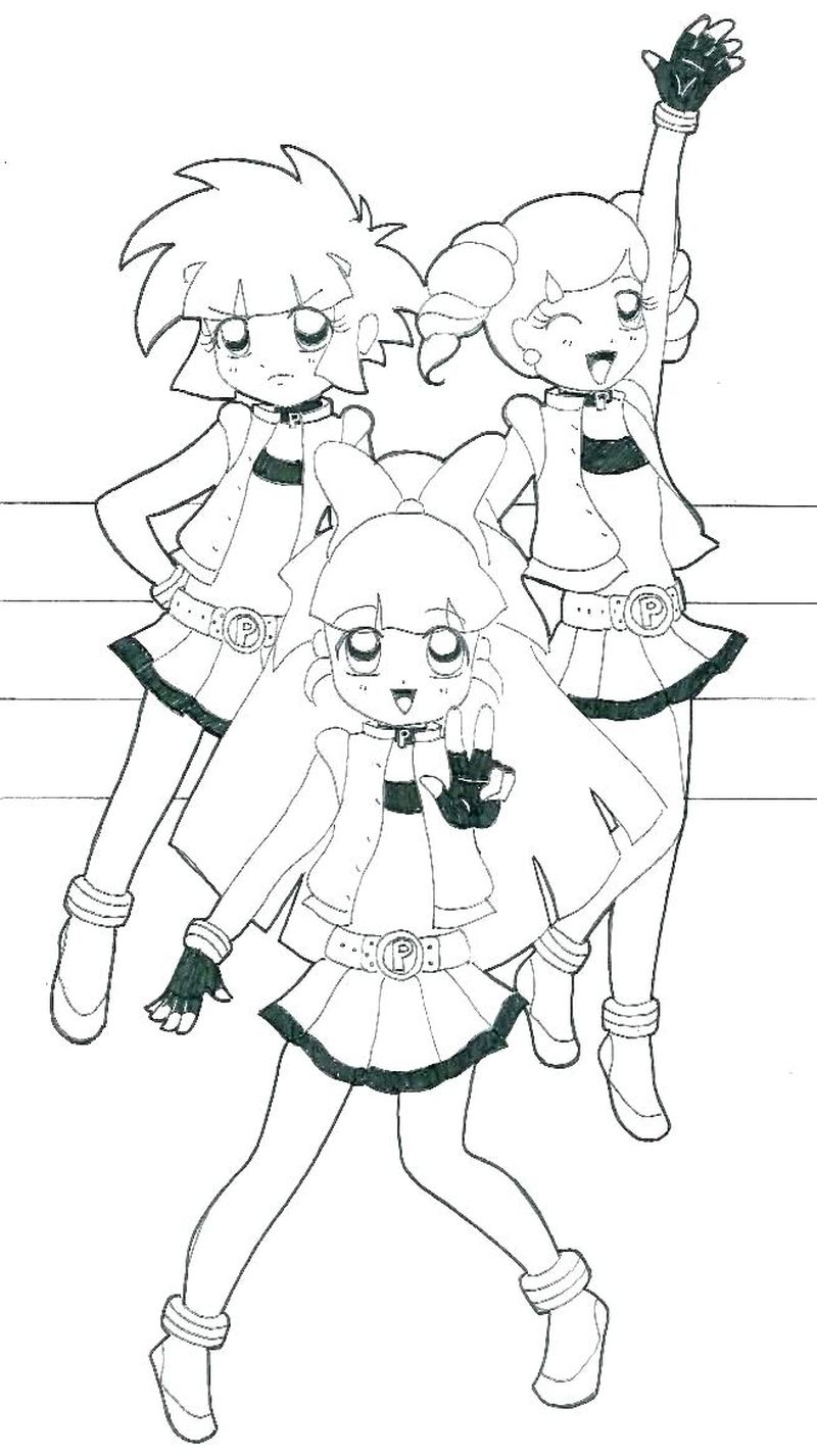 Powerpuff Girls Coloring Pages Buttercup Sheet