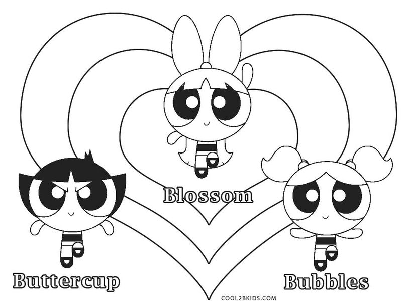 Powerpuff Girls Coloring Pages Online Free