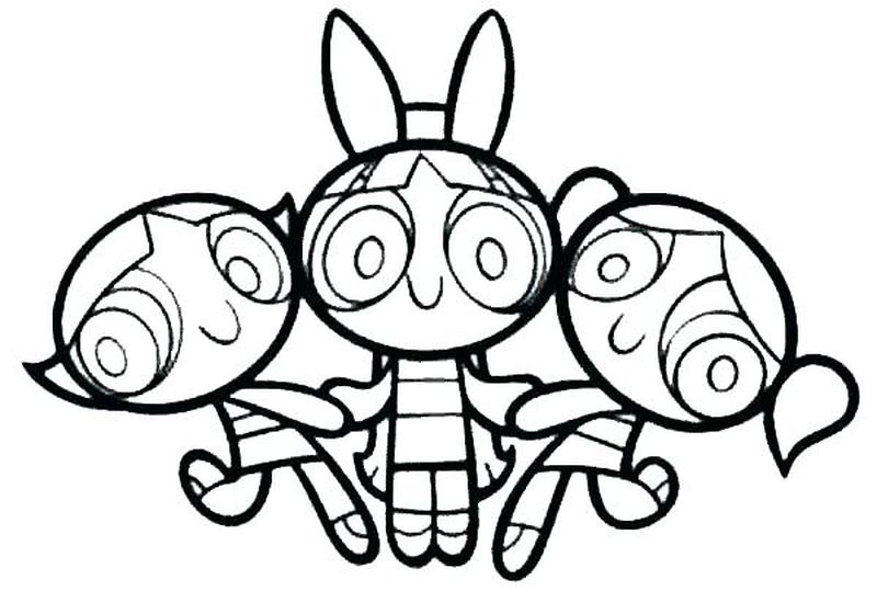 Powerpuff Girls Coloring Pages Printable Free