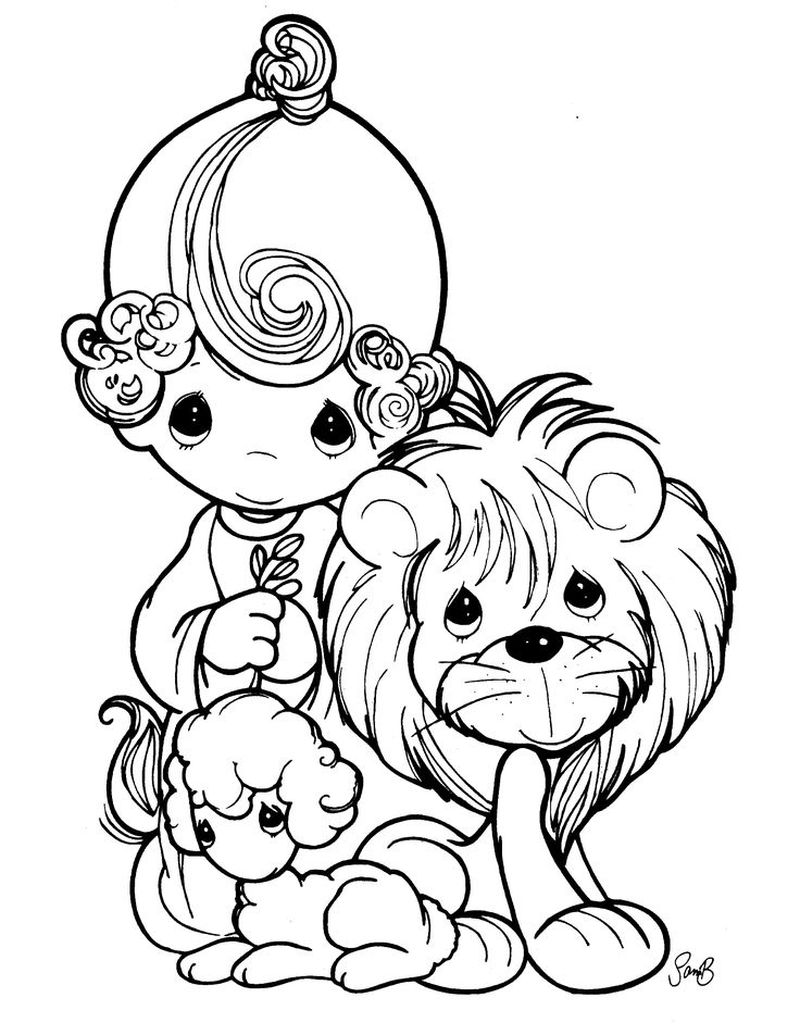 Precious Moments Baby Boy Coloring Pages