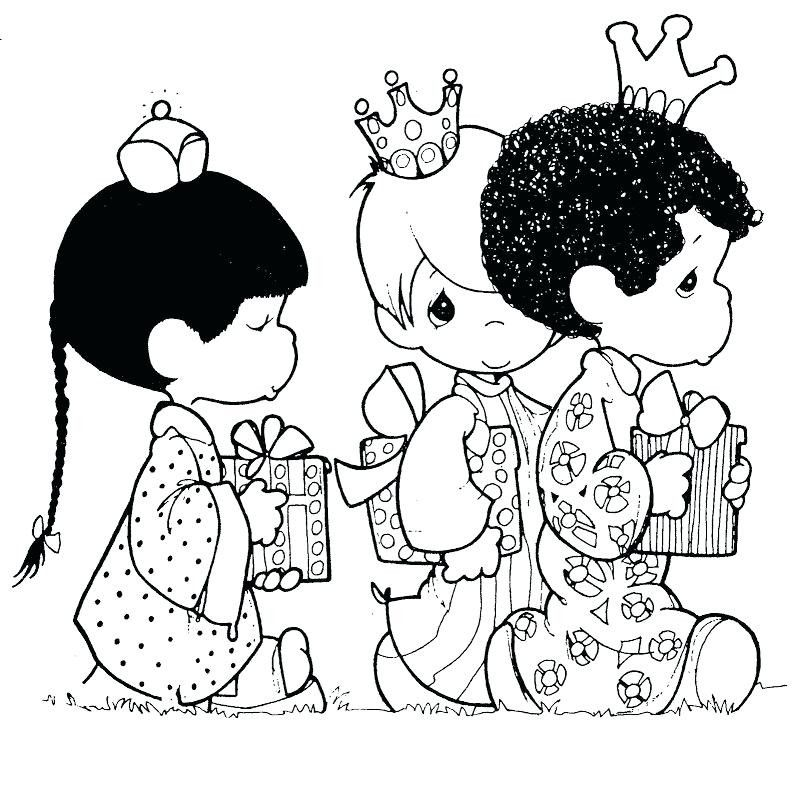 Precious Moments Boy And Girl Coloring Pages