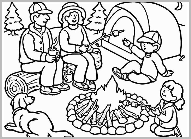 Precious Moments Coloring Pages Camping Free