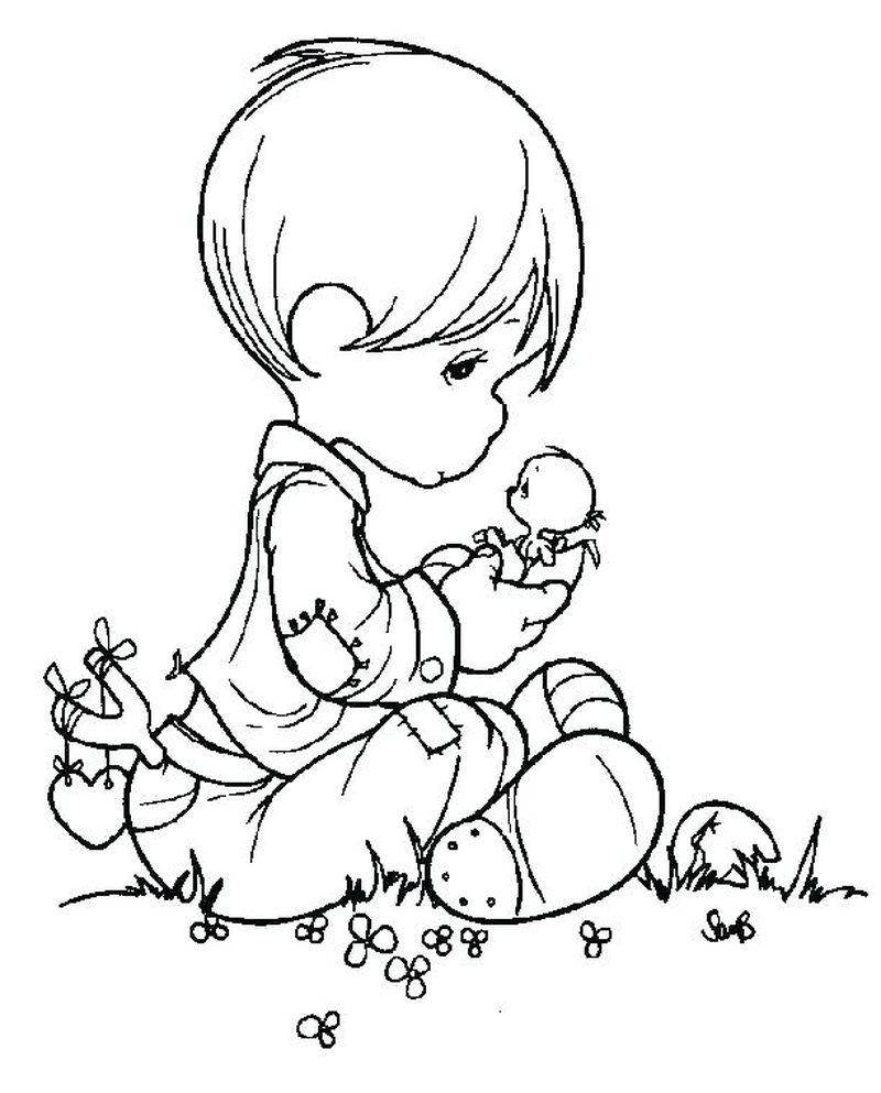Precious Moments Coloring Pages Printable Free