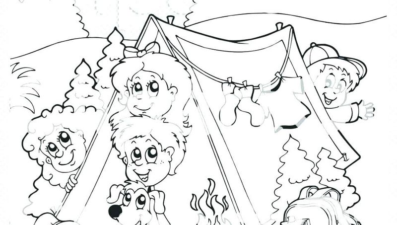 Preschool Coloring Pages For Camping Theme Free