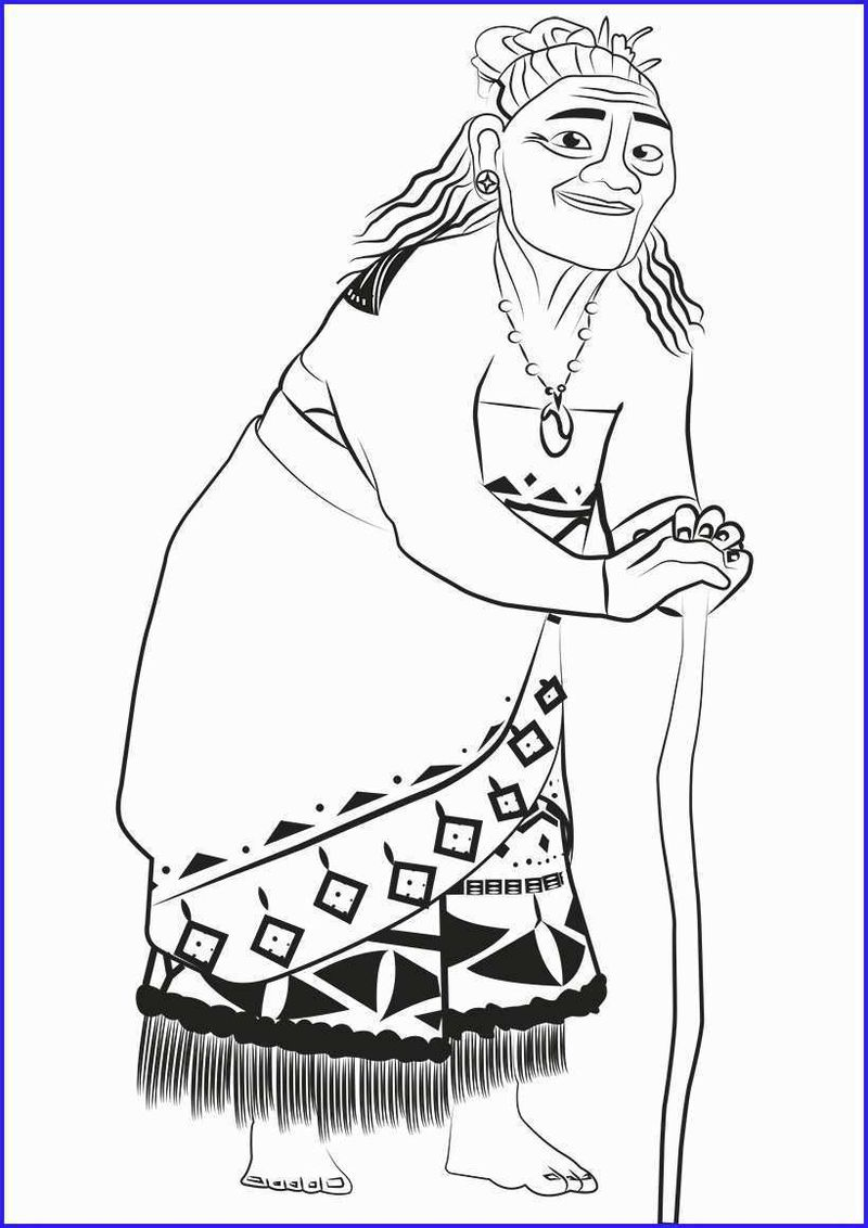 Print Moana Coloring Pages