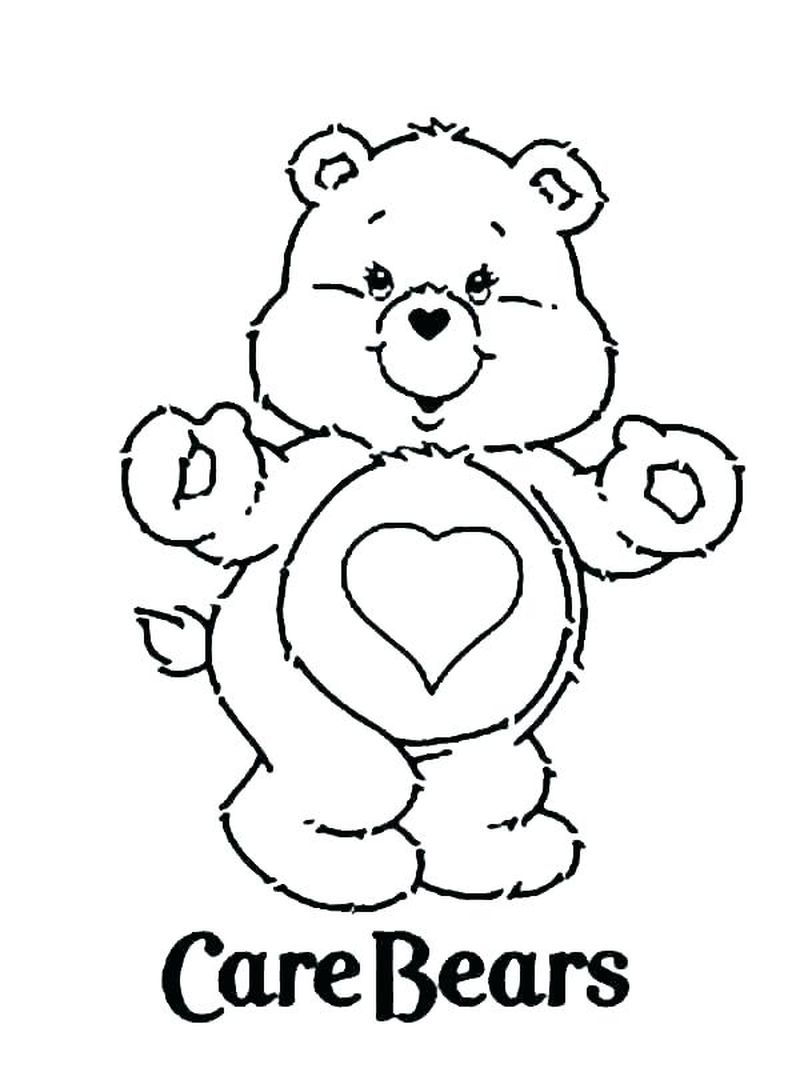 Printable Care Bear Coloring Pages pdf