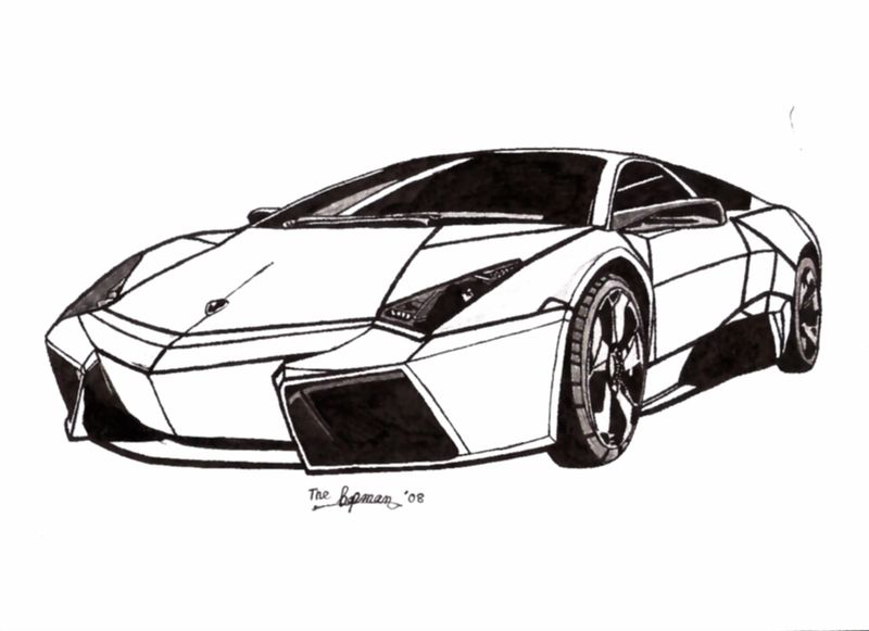 Printable Coloring Pages Of A Lamborghini