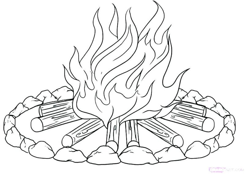 Printable Coloring Pages Summer Camping Free