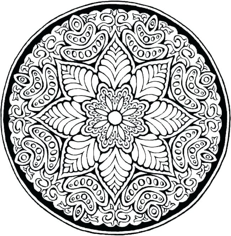 Printable Geometric Pattern Coloring Pages