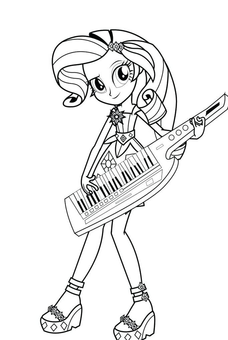 Rainbow Dash Equestria Girls Coloring Pages Free