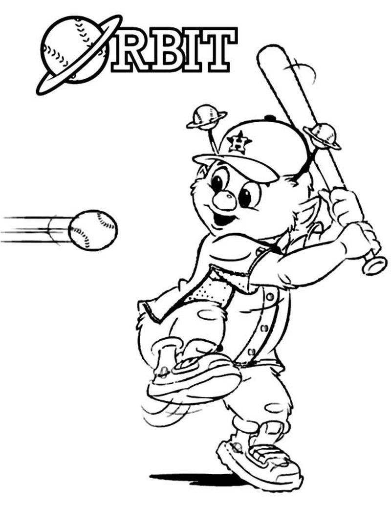 Real Baseball Player Coloring Pages