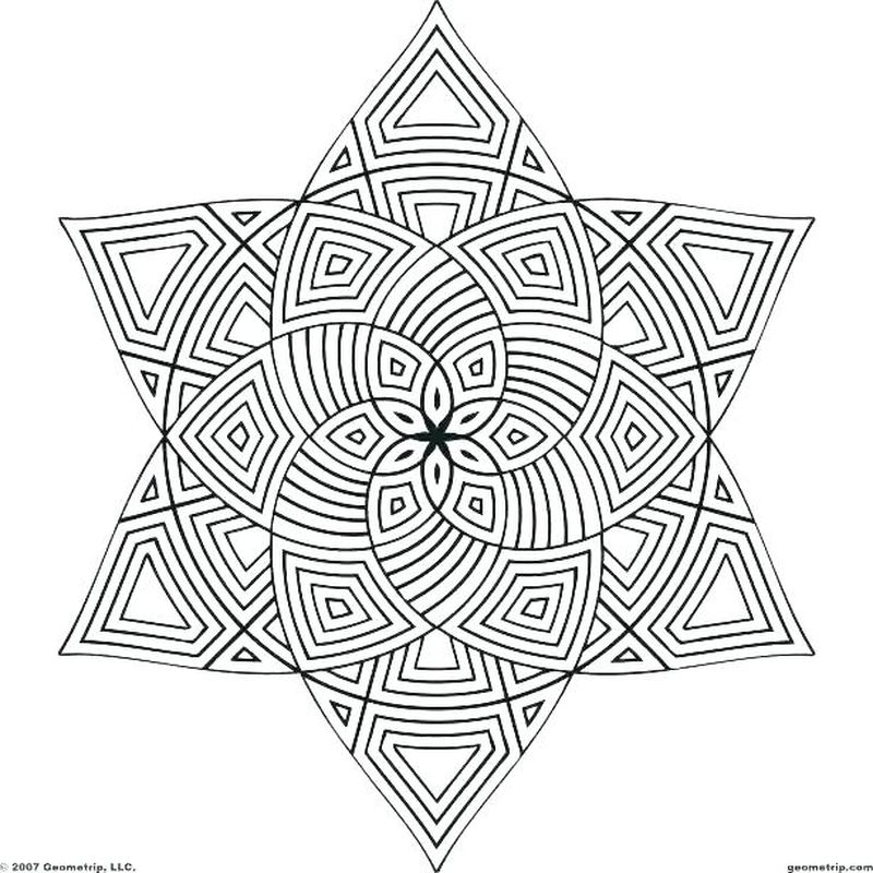 Real Geometric Coloring Pages