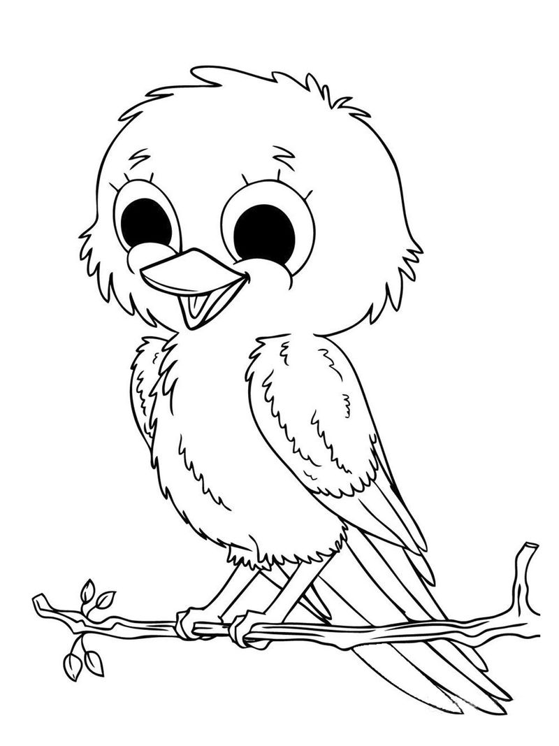 Realistic Baby Farm Animal Coloring Pages Free