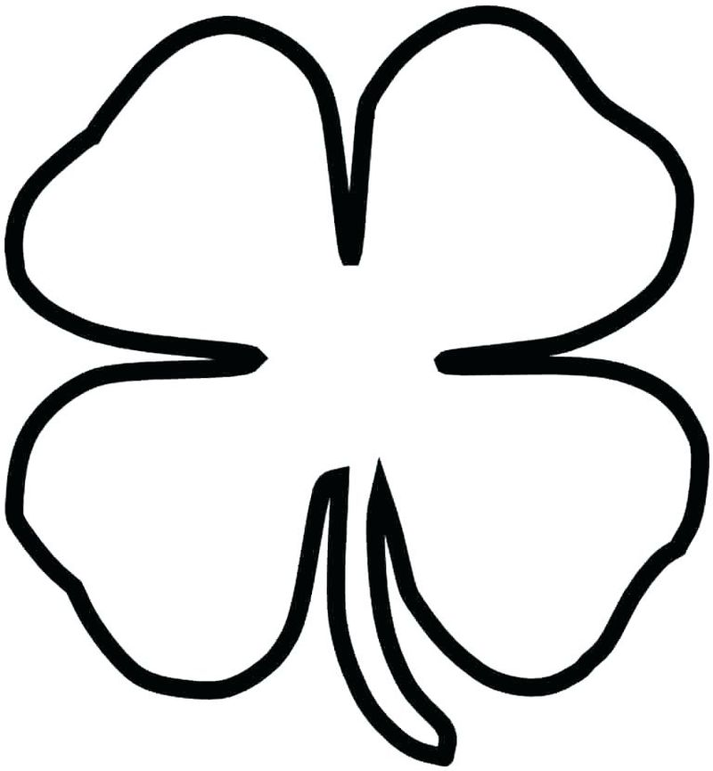 Religious Shamrock Coloring Page