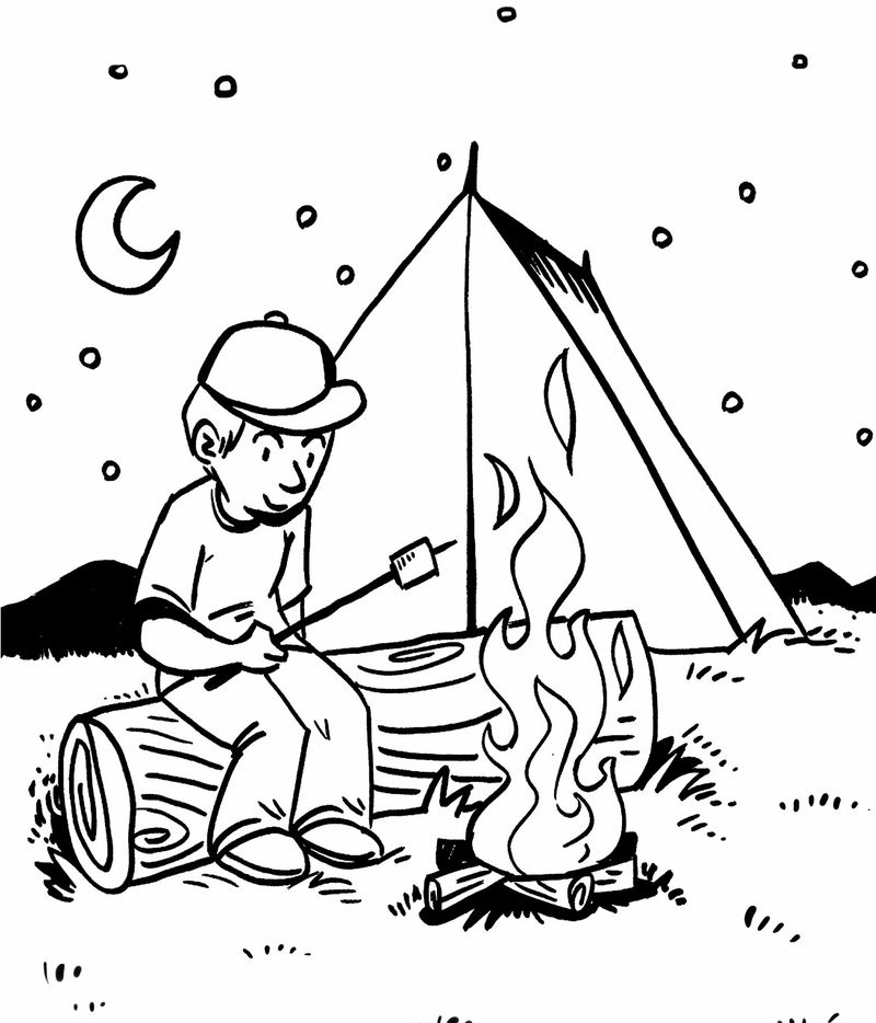 Rv Camping Coloring Pages Free