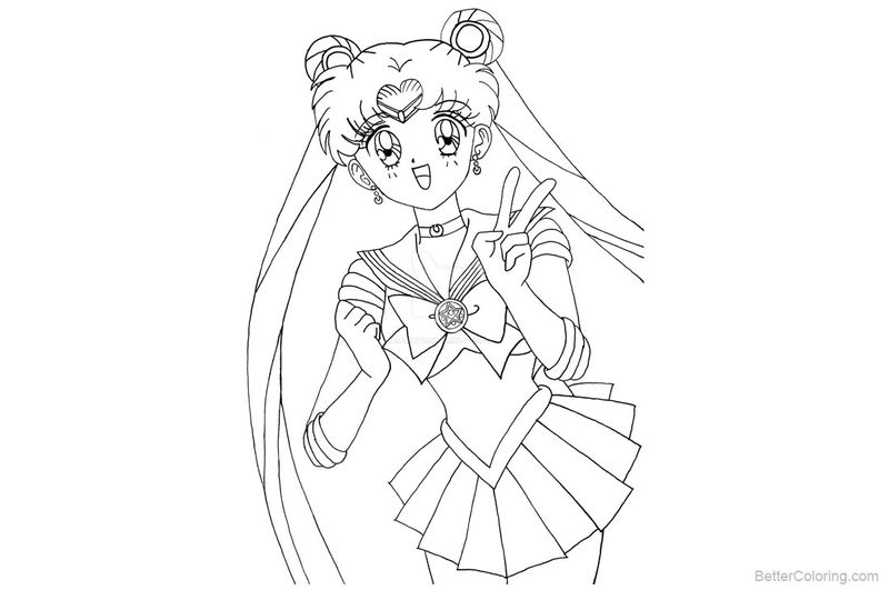 Sailor Mini Moon Coloring Pages free