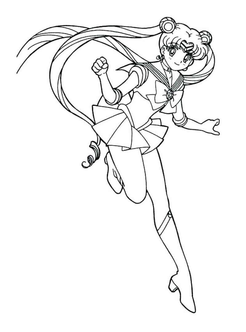 Sailor Moon And Friends Coloring Pages
