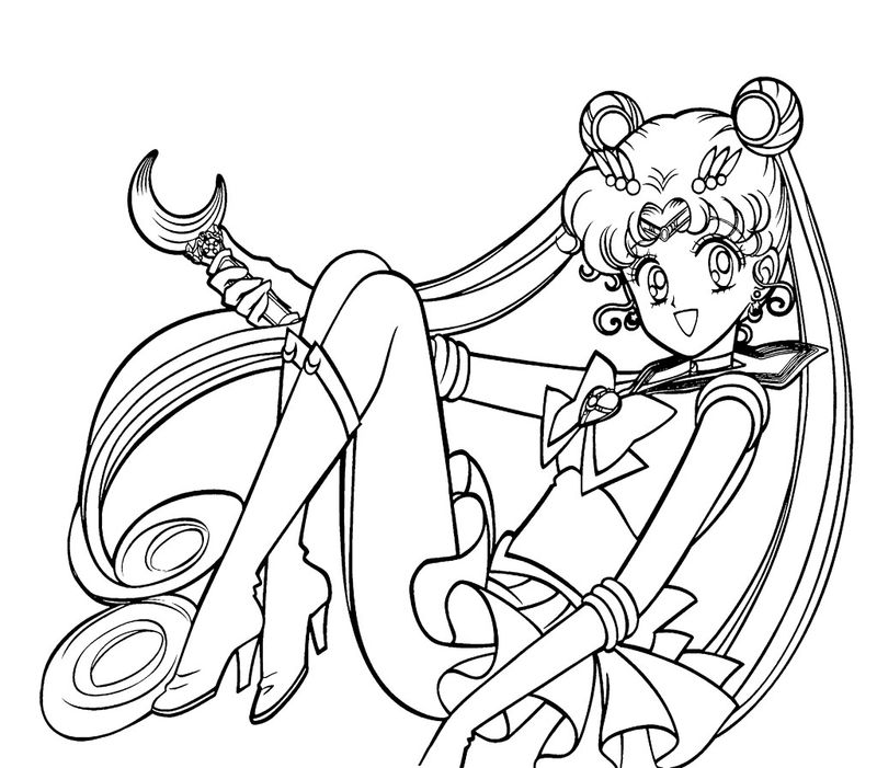 Sailor Moon And Tuxedo Mask Coloring Pages free