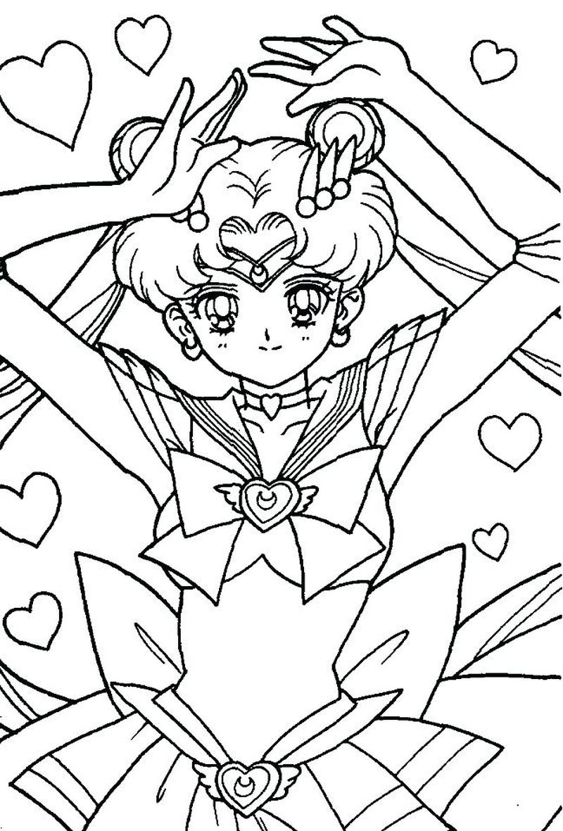 Sailor Moon Cat Coloring Pages free