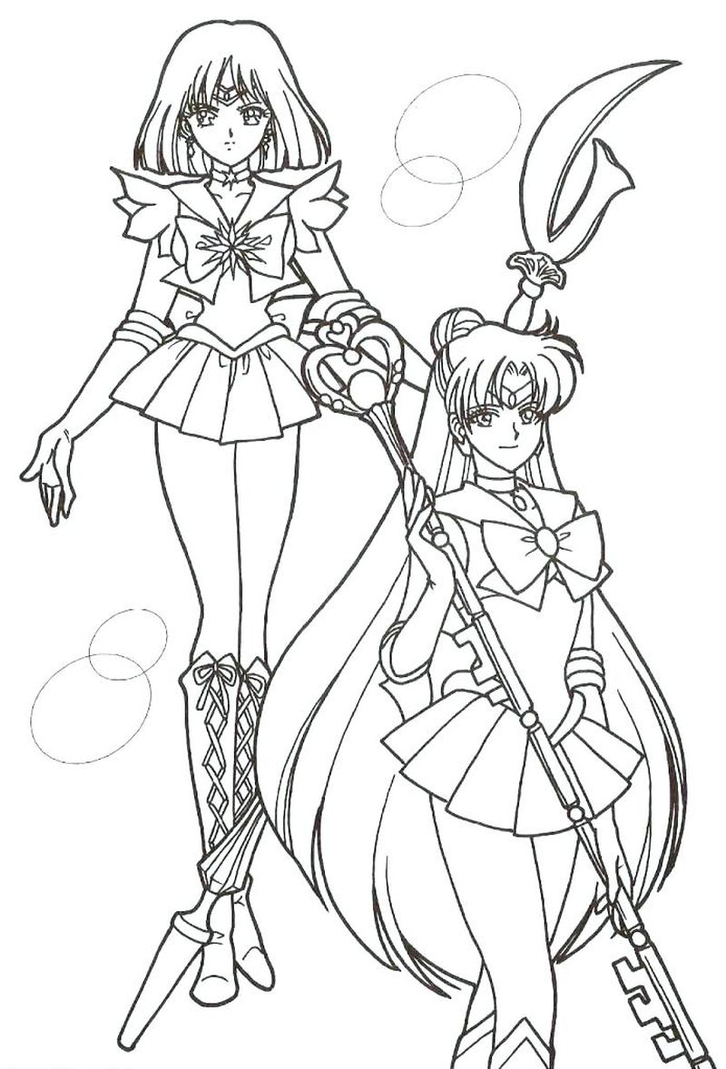 Sailor Moon Coloring Pages Amy