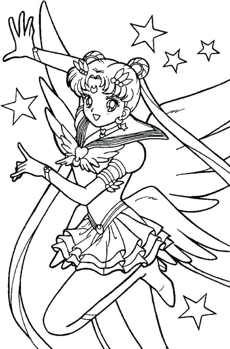 Sailor Moon Coloring Pages Characters