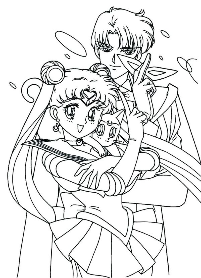 Sailor Moon Coloring Pages Doll Palace