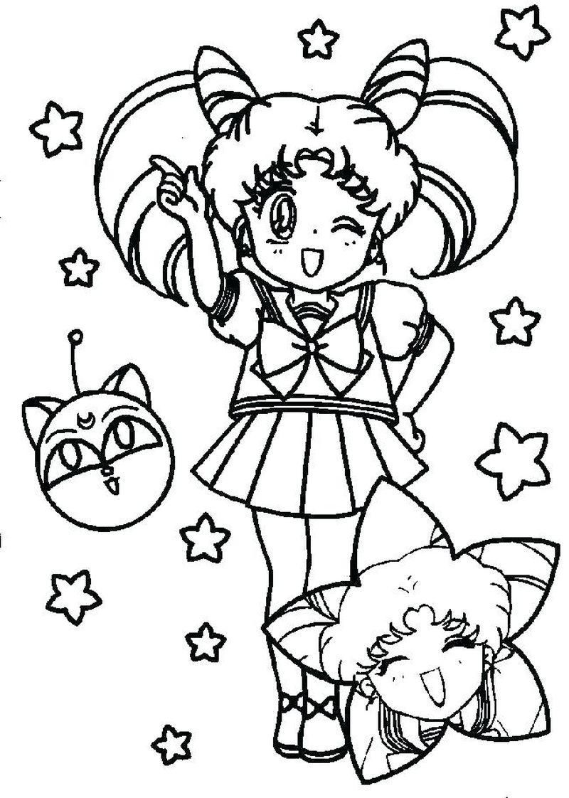 Sailor Moon Coloring Pages Easy